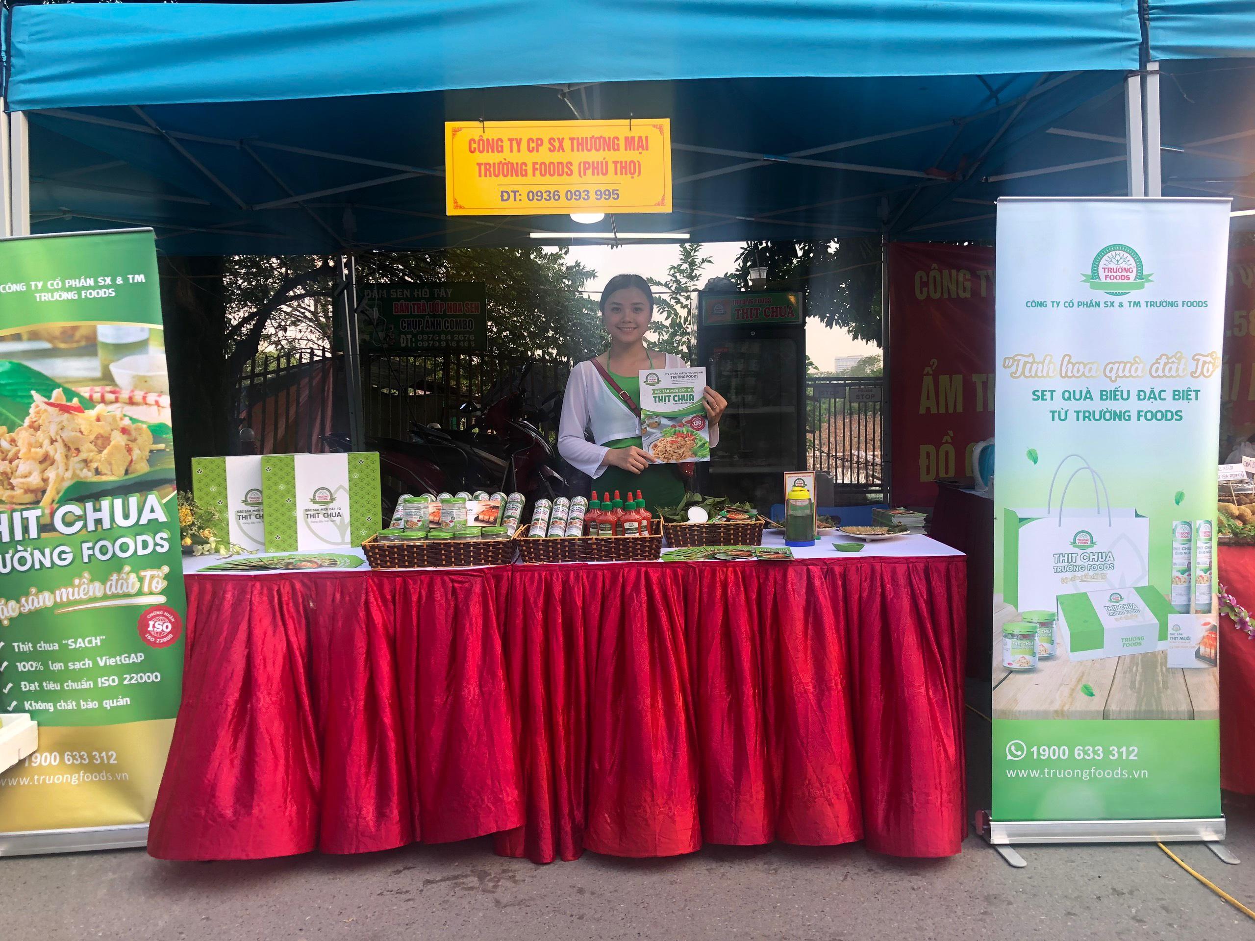 Gian hàng TRƯỜNG FOODS đã có mặt tại Phiên chợ xúc tiến thương mại sản phẩm OCOP
