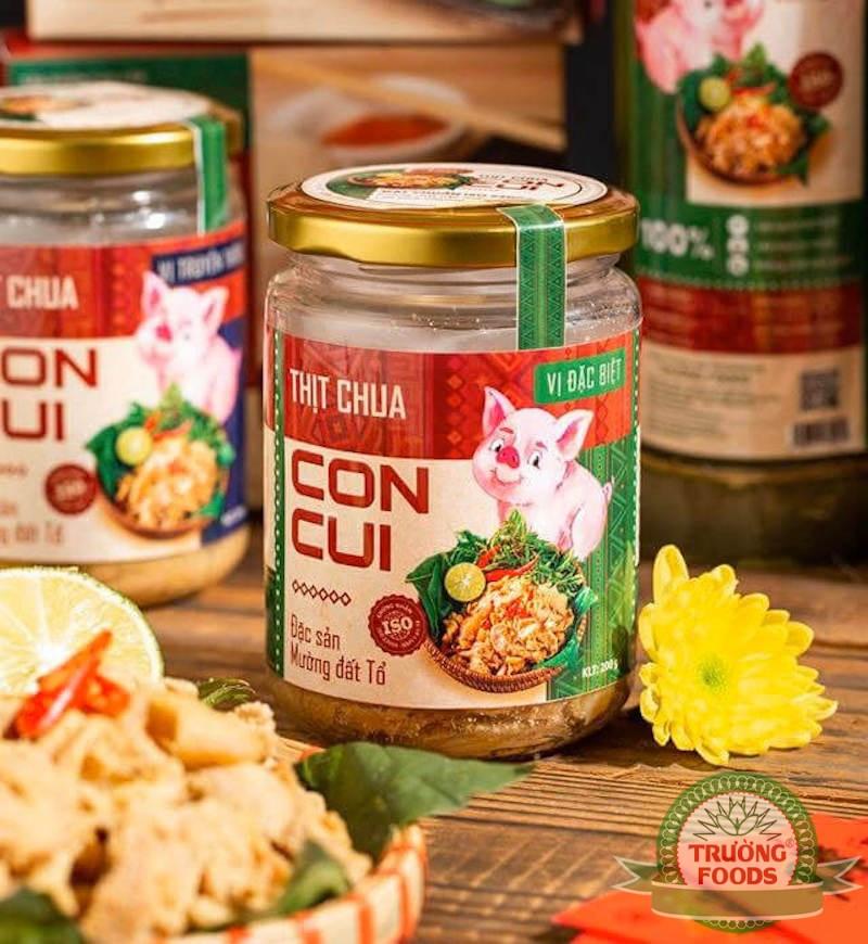Thịt chua được sản xuất theo công thức người Mường