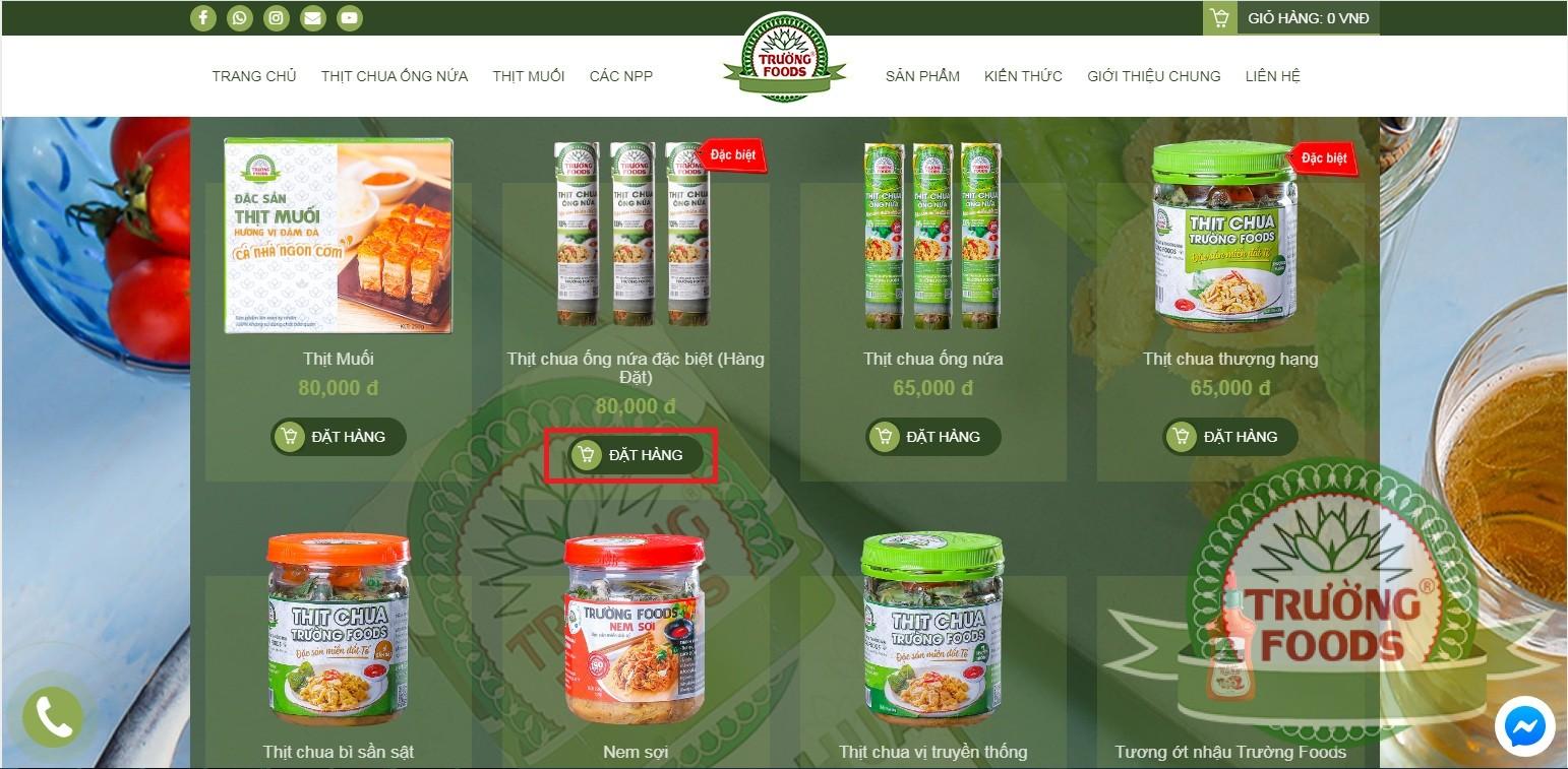 Hướng dẫn mua thịt chua online tại nhà đơn giản
