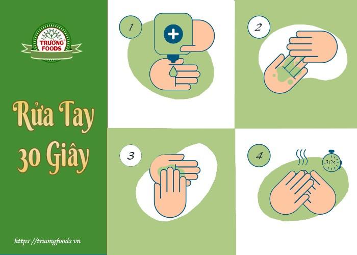 rửa tay đúng cách giảm nguy cơ lây nhiễm covid