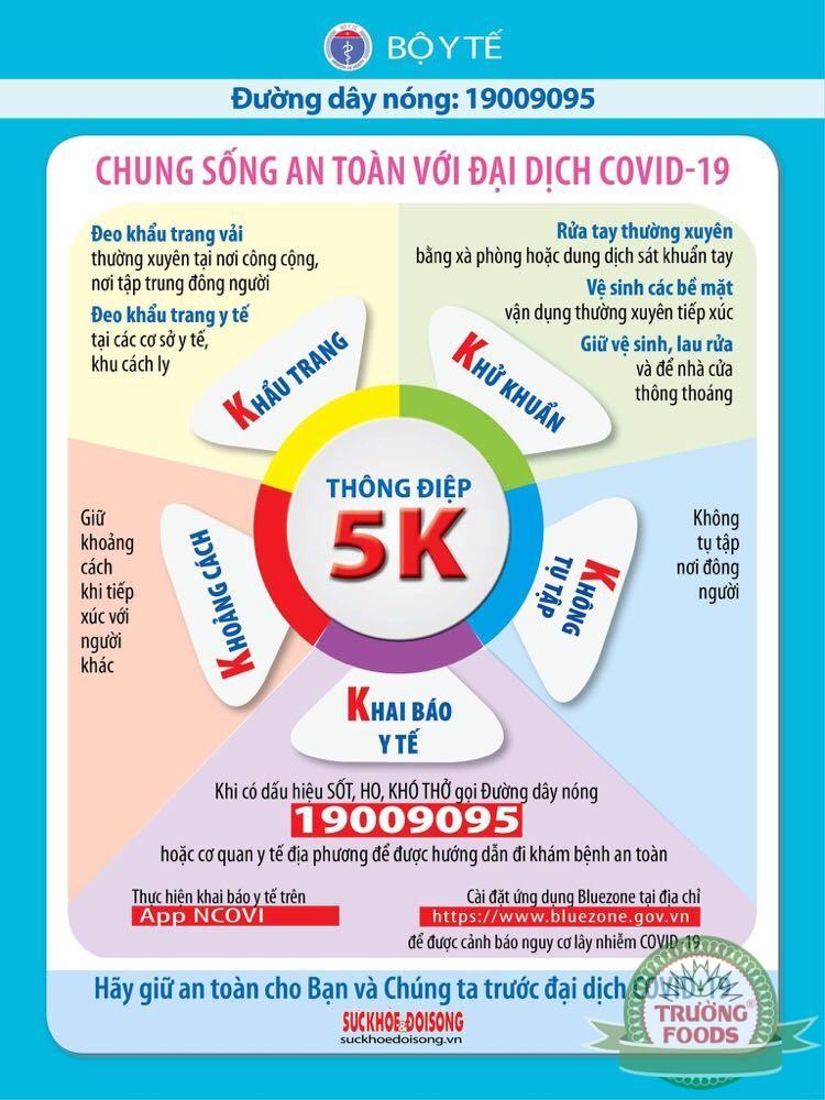"""Thông điệp 5K – """"Lá chắn thép"""" trong phòng chống đại dịch COVID-19"""
