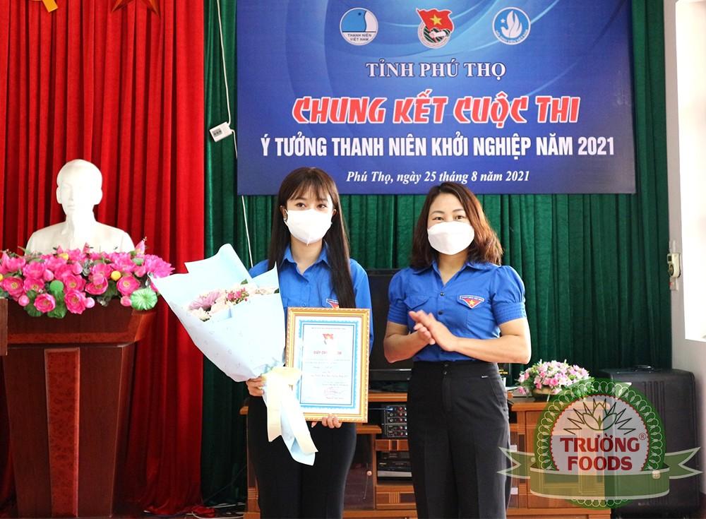 Trường Foods đạt giải nhất cuộc thi: Ý tưởng thanh niên khởi nghiệp năm 2021 của tỉnh Phú Thọ